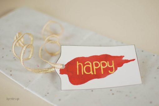 gift tags - bye9design digitalt print - nordic design