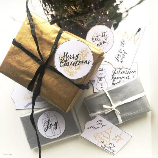 Nordic christmas gift tags - bye9design digitalt print - nordic design