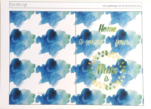 Mothersday - blue -bye9design digitalt print - nordic design