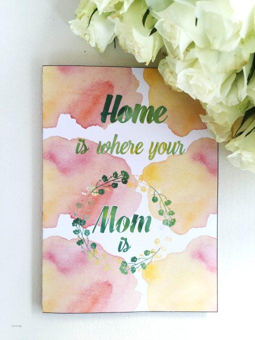 Mothersday - pink -bye9design digitalt print - nordic design
