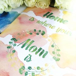 Mothersday - pink -bye9design digitalt print - nordic design