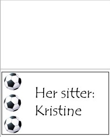 Fotball -bordkort - bye9design digitalt print - nordic design