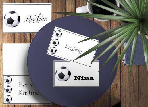Fotball -bordkort - bye9design digitalt print - nordic design