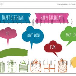 Flodhest- children birthdaycard - bye9design digitalt print - nordic design