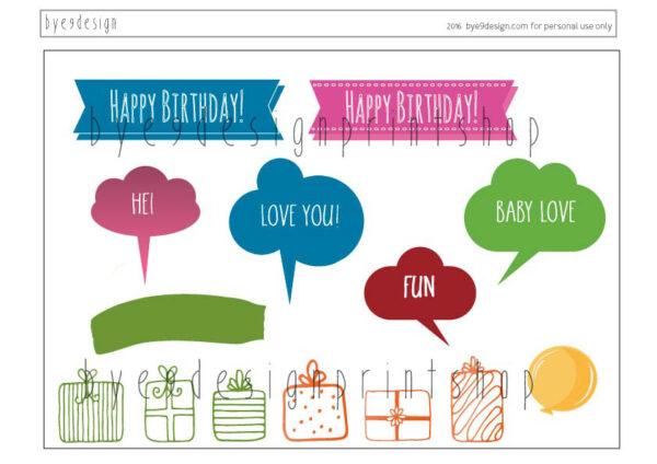 Flodhest- children birthdaycard - bye9design digitalt print - nordic design