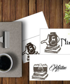 Camera -placecard- bye9design digitalt print - nordic design