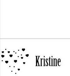Black heart -placecard - bye9design digitalt print - nordic design