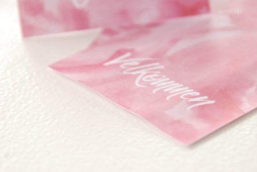 Sweet bordkort - rosa - bordkort barndåp - bordkort konfirmasjon - nordic design - bye9design printshop