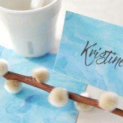 Aqua bordkort - blå - bordkort barndåp - bordkort konfirmasjon - nordic design - bye9design printshop