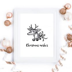 Christmas wishes - digital print