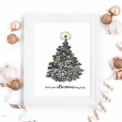 Let the spirit of Christmas bring you joy - digital print