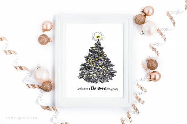 Let the spirit of Christmas bring you joy - digital print