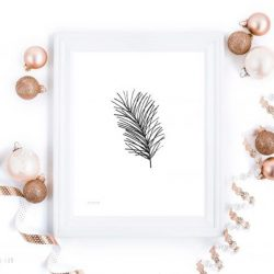 Naturlig jul -julekort i sort og hvitt - bye9design printshop