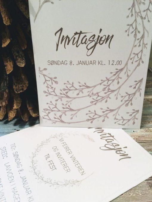 Invitasjon vintertema - redigerbar - printable - bye9design