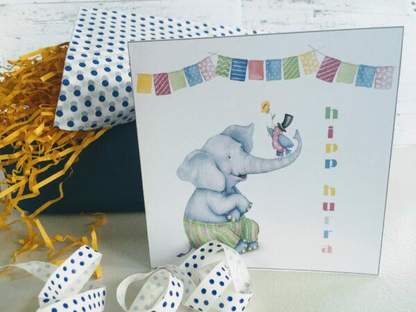 dobbelt bursdagskort barn - digitale print - bye9design