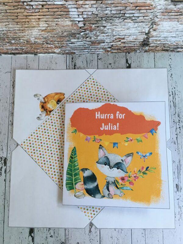Snille Vaske fra bye9design - barnekort med konvolutt og redigerbar tekst - digital print