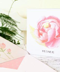 Peon - dobbelt kort 13x13 med nydelig konvolutt