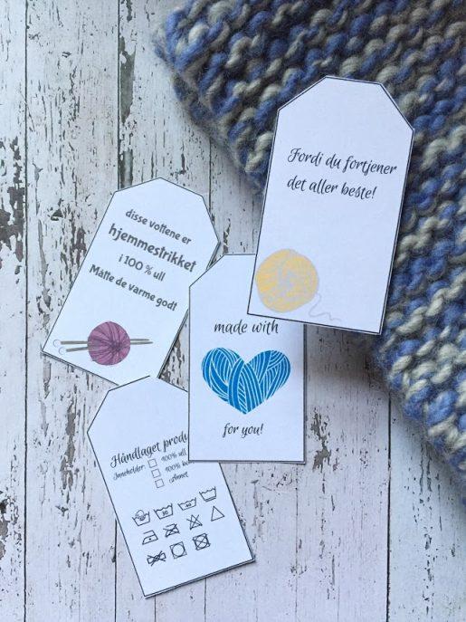 Strikke mappen som tar vare på strikke minnene