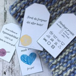 Gavelapper - merkelapper til dine strikkede produkter