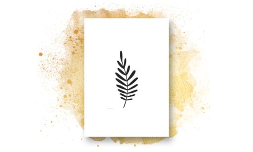 Sort hvite print - bye9design
