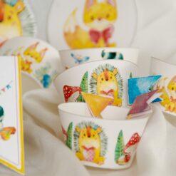 Muffinsformer og kakepynt - eventyrskogen - barneselskap
