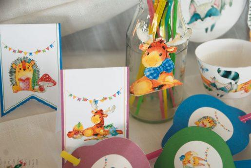 Pynt til barneselskap - Eventyrskogen - barneselskap