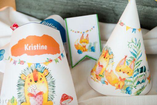 Godteripose, vimpler og bursdagshatt - Eventyrskogen - barneselskap