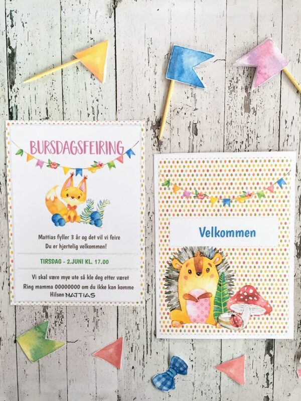 Invitasjoner - Eventyrskogen - barneselskap