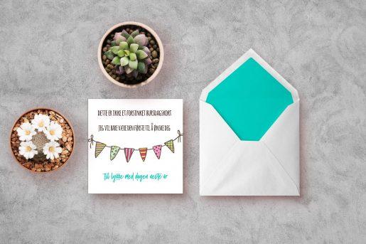 Dette er ikke et forsinket bursdagskort - bye9design