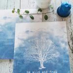 Wild and free - dobbelt kort med konvolutt - printable - bye9design