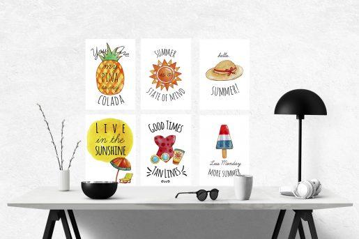Summer feelings - pakke med 6 kort