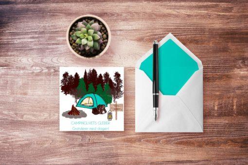 Ut på tur - dobbelt kort med konvolutt - bye9design