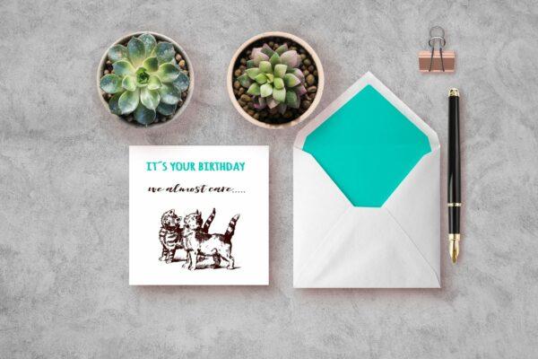 we almost care - bursdagskort bye9design