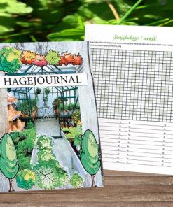 Hagejournal - for dine hagenotater - norsk tekst