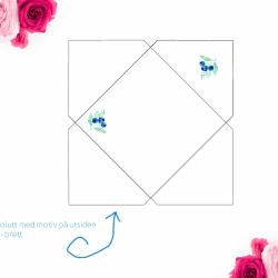 Kort til konfirmanten - blåbærmotiv - med konvolutt