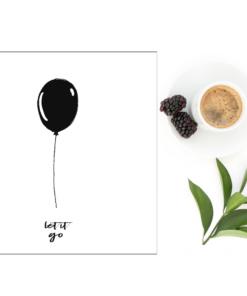 let it go - dobbelt kort 13x13 med konvolutt
