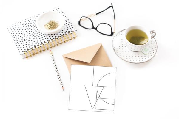 Love - dobbelt kort med konvolutt