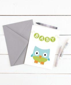 Baby ugle, sjarmerende ugleplakat til barnerommet