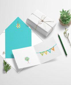 Babykort med konvolutt