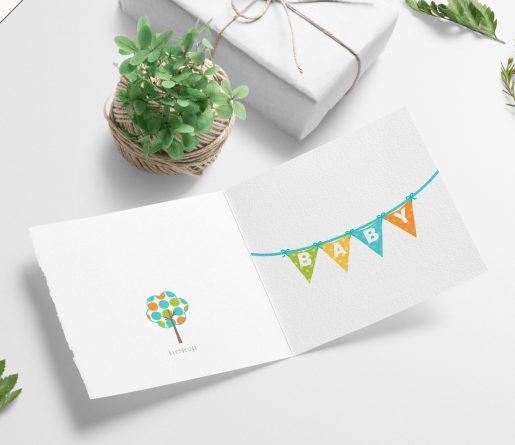 Babykort - helt enkelt, i skjønne farger til fødsel og dåp
