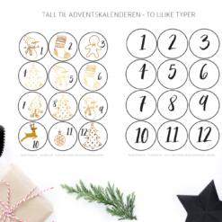 Juleprintpakken - print ut julekort, gavelapper, julelister, gavepapir og mye mer