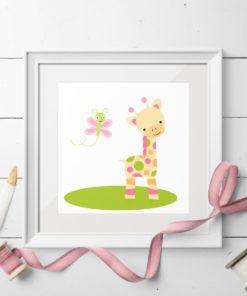 Giraffen - kort med konvolutt