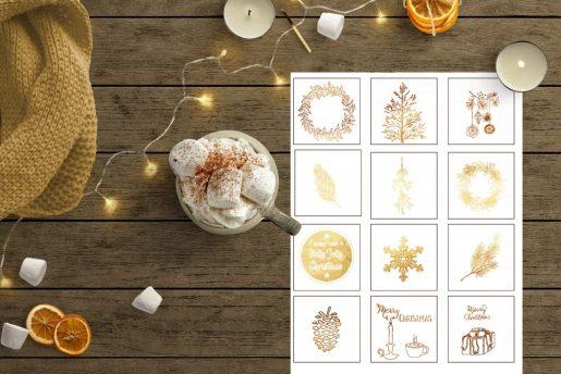Julegavelapper i sort eller gull