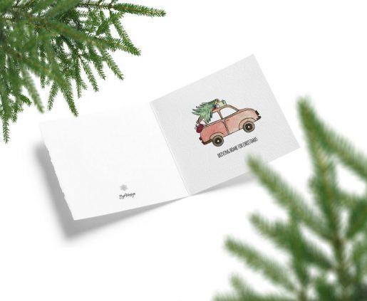 Driving home for Christmas - julekort