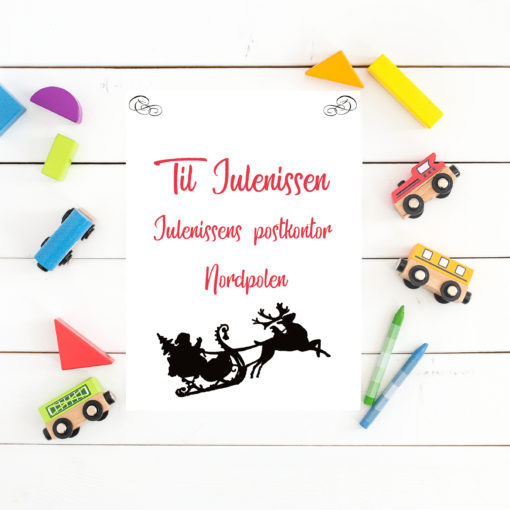 Ønskeliste til julenissen - print ut