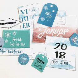 Journalkort og tags til fotoalbum og scrapping - januar