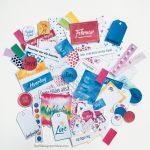 """Journalkort og tags til fotoalbum/scrapping - Februarpakken """"Dette gjør meg glad"""""""