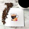 Kort med espresso og macroner