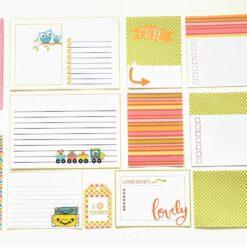 Journalkort og tags til fotoalbum og scrapping -