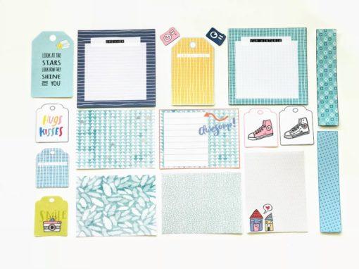 """Journalkort og tags til fotoalbum og scrapping - """"Ta vare på minnene"""""""